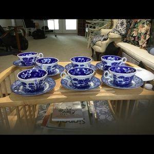 Spode England Cups & Liberty Blue Sauces